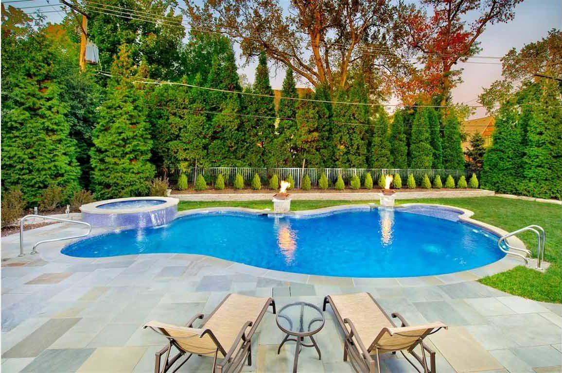 pool landscaping ideas fabric DYCWOSS