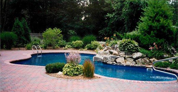pool landscaping ideas pool landscape design PDGEIGY