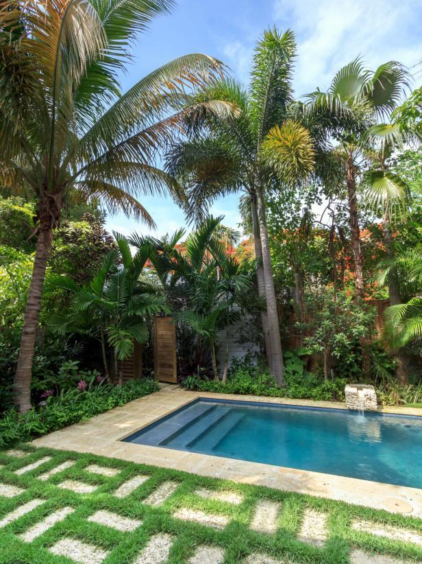 pool landscaping ideas swimming pool design ideas   hgtv YALNKJR
