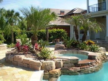 pool landscaping ideas tropical pool landscaping   south florida landscaping ideas NKMTKOP