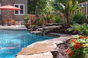pool landscaping in st. louis GZGSHEL