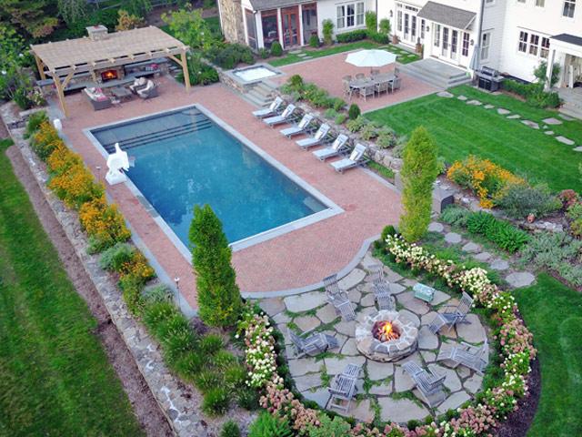 pool landscaping mufson pools landscape design nj IUEWRSD
