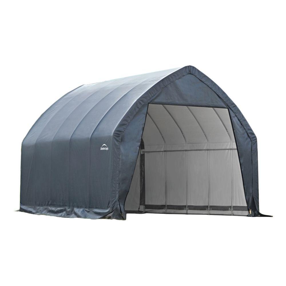 portable carport garage-in-a-box 13 ft. x 20 ft. x 12 HEMJDUM