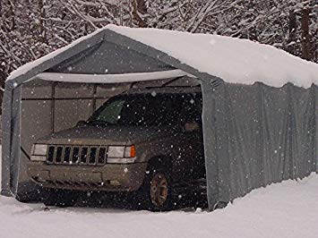 portable carport portable carports | instant garages | vehicle shelters (gray, house  12wx20lx8h) YVTLALJ