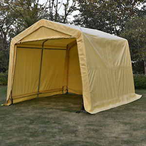 portable shed image is loading 10x15x8ft-auto-shelter-portable-garage-storage-shed-canopy- KCBAHXS