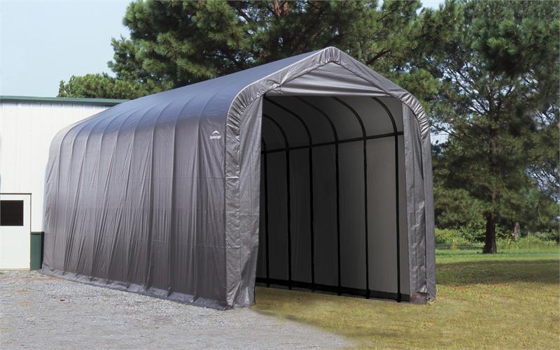 portable storage sheds peak frame portable storage shed 16x40x16 XQXMLOS
