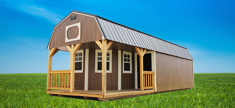 pre built sheds lofted barn cabin IDZIKFP