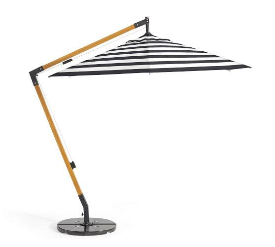 premium sunbrella® wooden cantilever umbrella - stripe JDXCWEB