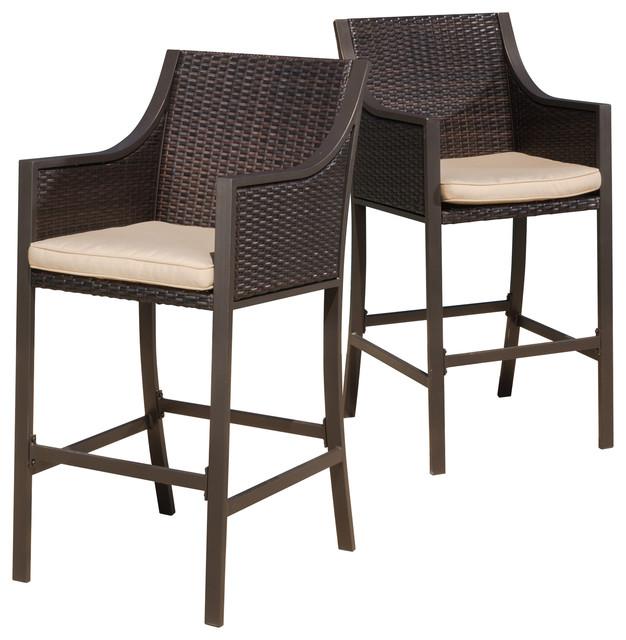 rani brown outdoor bar stools, set of 2 TZYPGQP