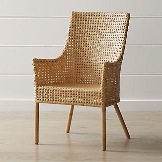 rattan furniture maluku natural rattan dining arm chair IOTESGK