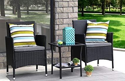 rattan outdoor furniture baner garden 3 pieces outdoor furniture complete patio cushion pe wicker ZFMNUJX