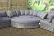 rattan outdoor furniture grey rattan garden furniture sets for sale ELQBDXU