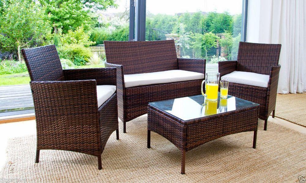 rattan patio furniture why you should choose all-climate rattan garden furniture sets XJMEPKU