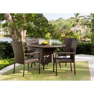 resin patio furniture bexton 5 piece dining set RDYJHZU