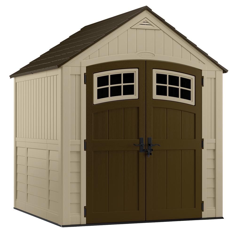 resin storage sheds suncast sutton 7 ft. 3 in. x 7 ft. 4.5 in. resin KVPWWLN