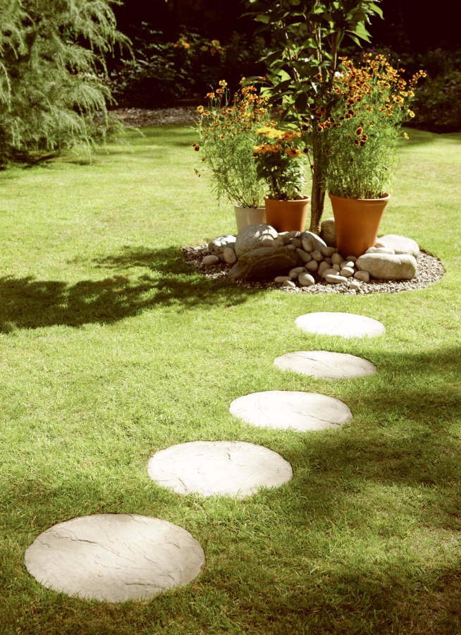 round stepping stones cream blend RCZQOOM