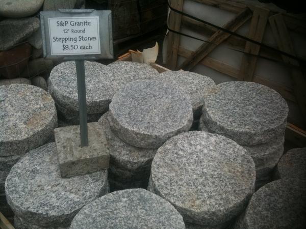 round stepping stones round granite stepping stones AQVAKYF