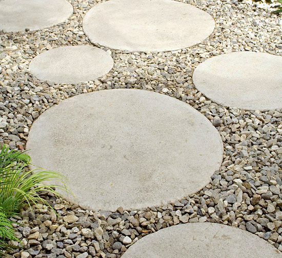 round stepping stones - this would be a great solution for the ZJZKOGC