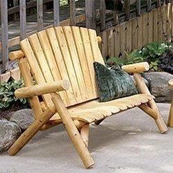 rustic outdoor furniture chairs u0026 loveseats TOFMLKE