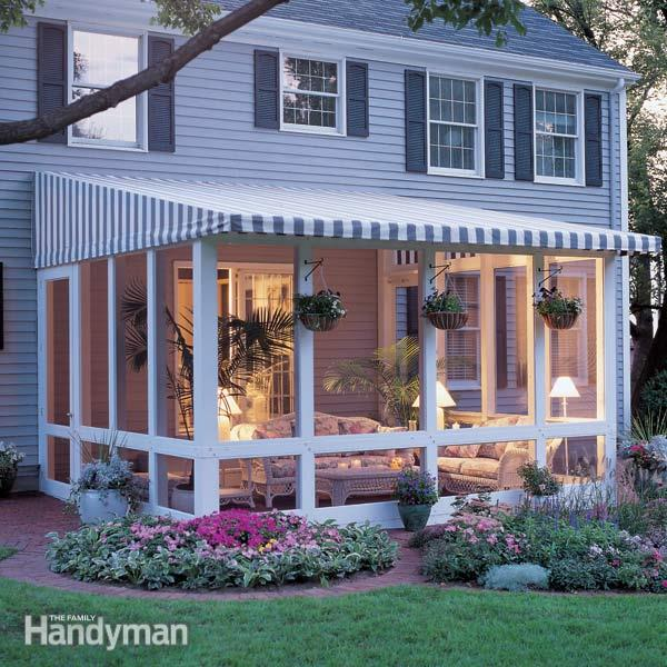 screened porch how to build a screened in porch KCJFYPC