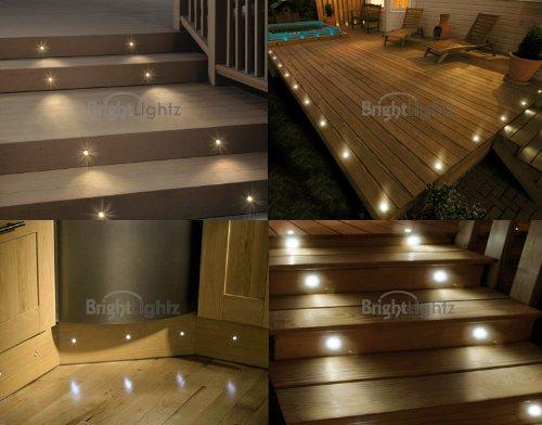 set of 10 waterproof led warm white deck lights / decking / YCGCADT