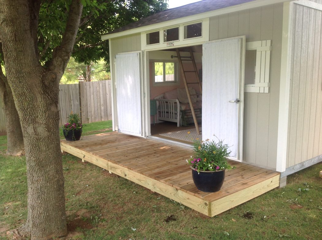 shabby chic meets the backyard shed - tuff shed CEDPVJH
