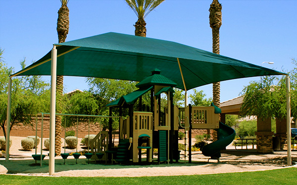 Guidelines when putting up shade structures