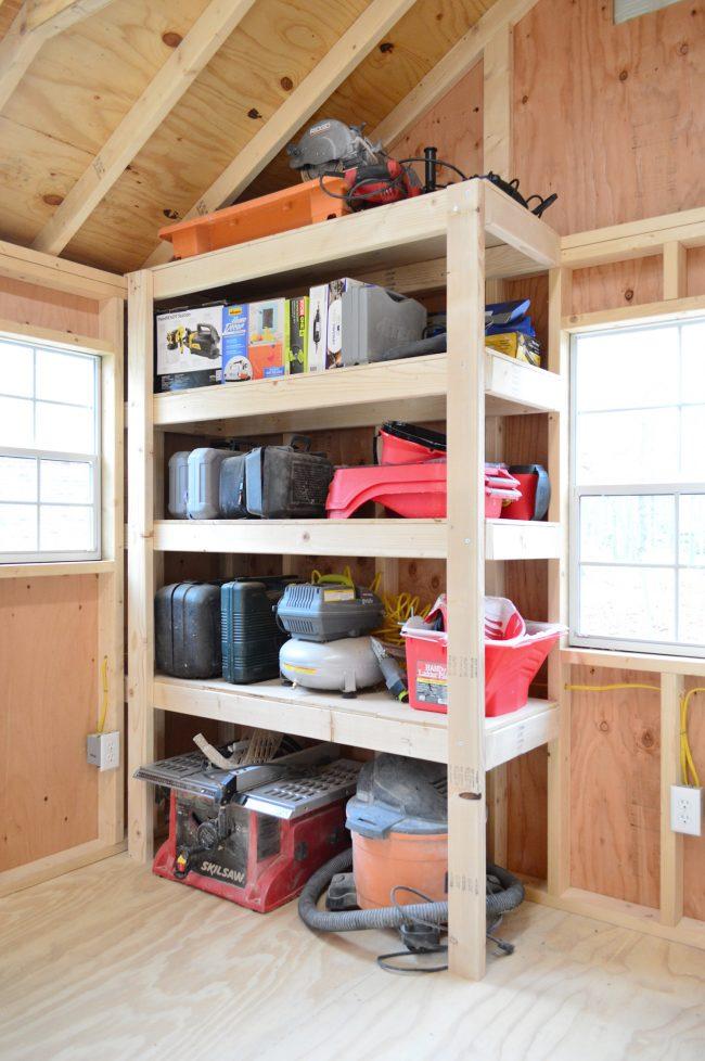 shed storage ideas diy heavy duty wood shelves UTHGSXL