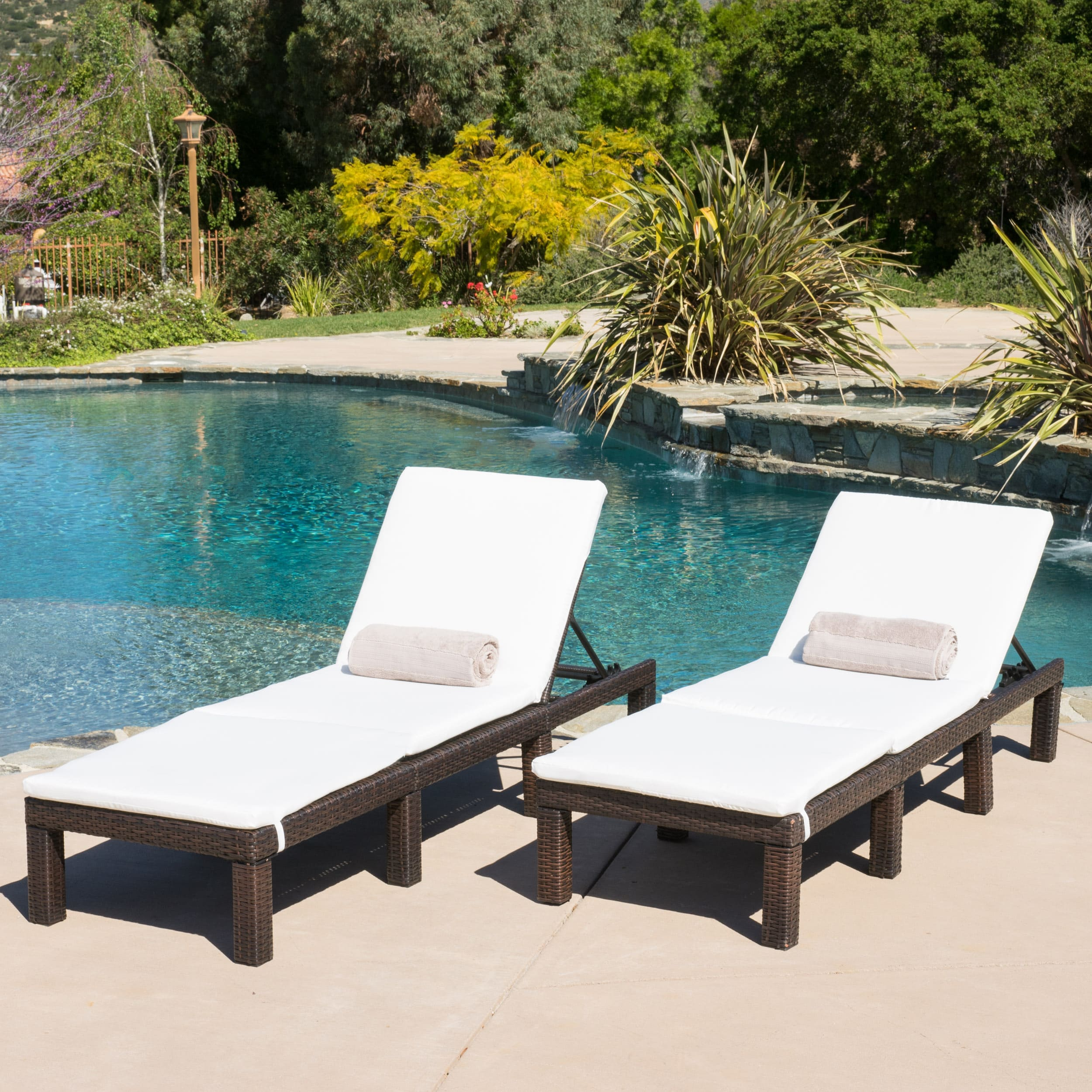 shop jamaica outdoor chaise lounge with cushion (set of 2) by christopher BDPOCRX