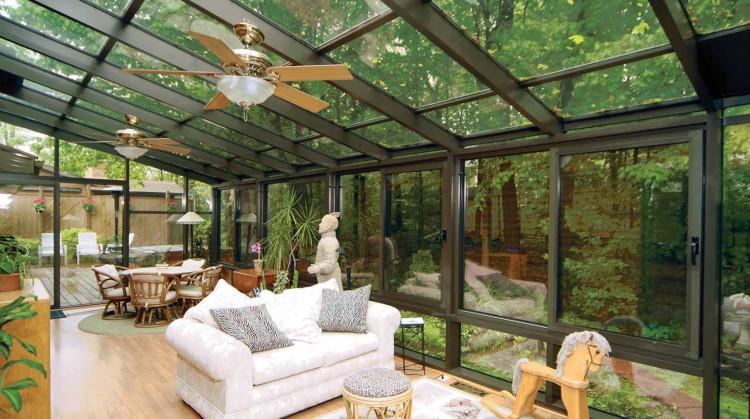 simple glass enclosed patio JUWYBJI