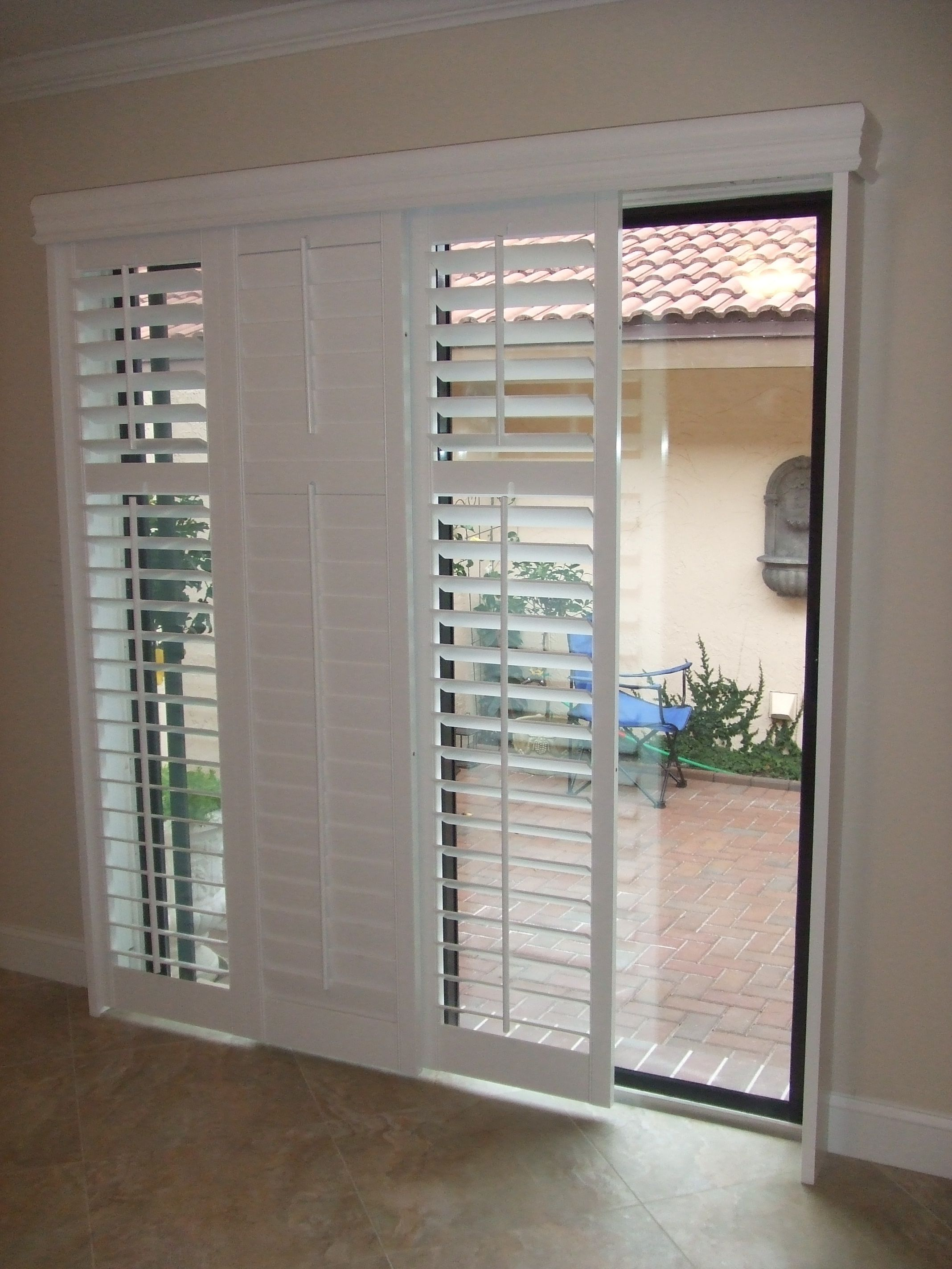 sliding door blinds modernize your sliding glass door with sliding plantation shutters KDUZXJV