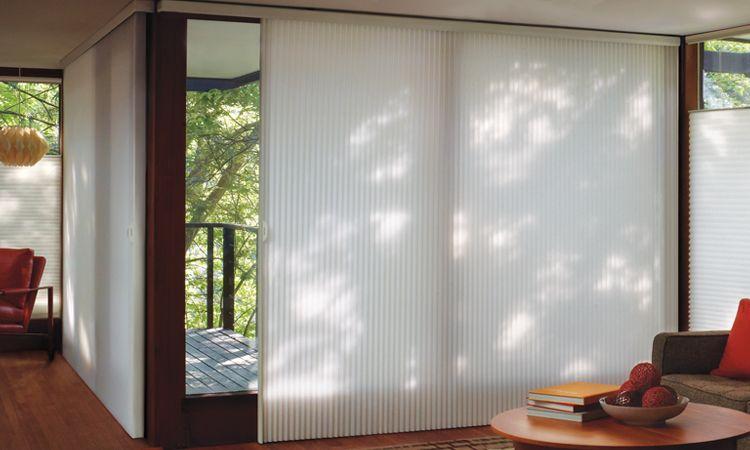 sliding door window treatments glass door window treatments - duette ... GNJHRQO