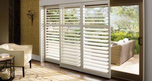 sliding door window treatments plantation shutters for sliding glass patio doors LZVNCHR