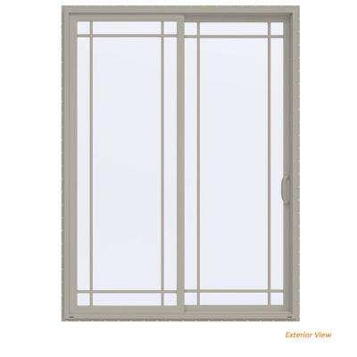 sliding patio doors 72 in. x 96 in. v-4500 contemporary desert sand vinyl right- OQAPLXF