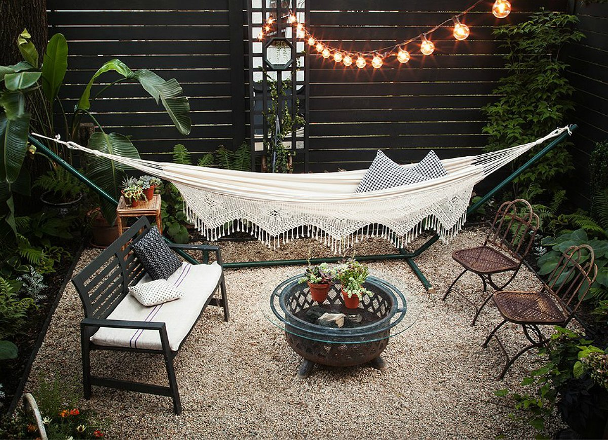 small backyard ideas go with gravel for a backyard you never have to mow EPSAYCL