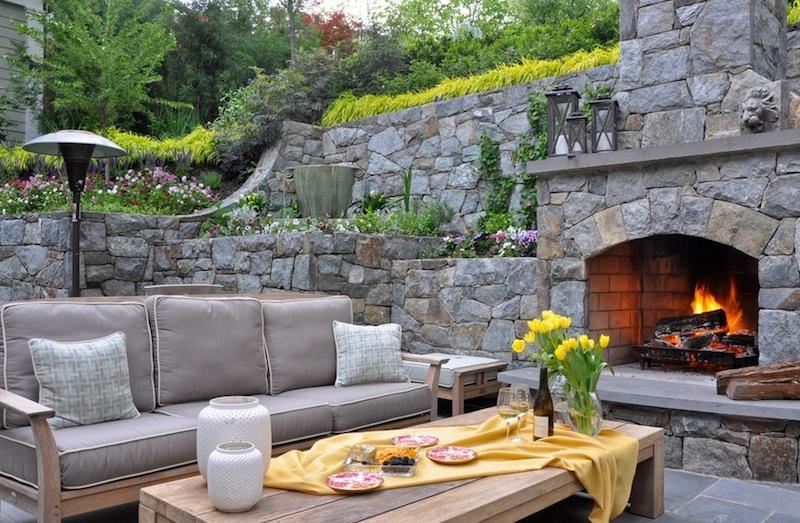 small backyard ideas gray seating set QKPHPIR