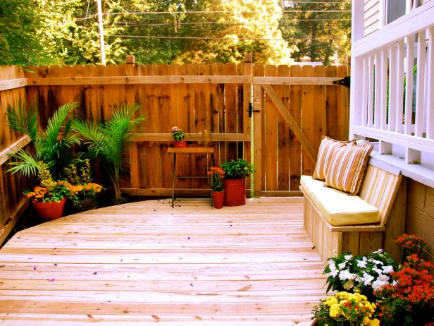 small deck ideas deck with bench LMELWQP