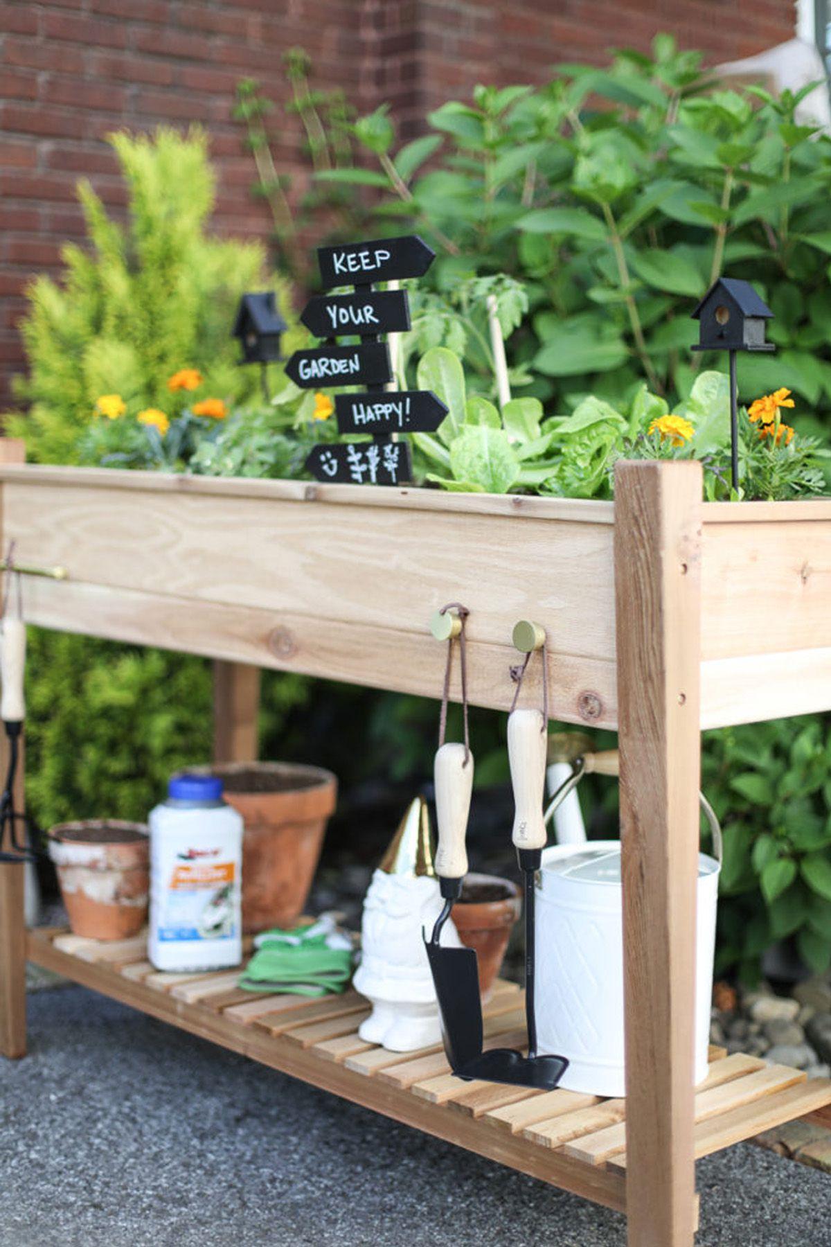 small garden design garden ideas, raised flower bed PEUMXNN
