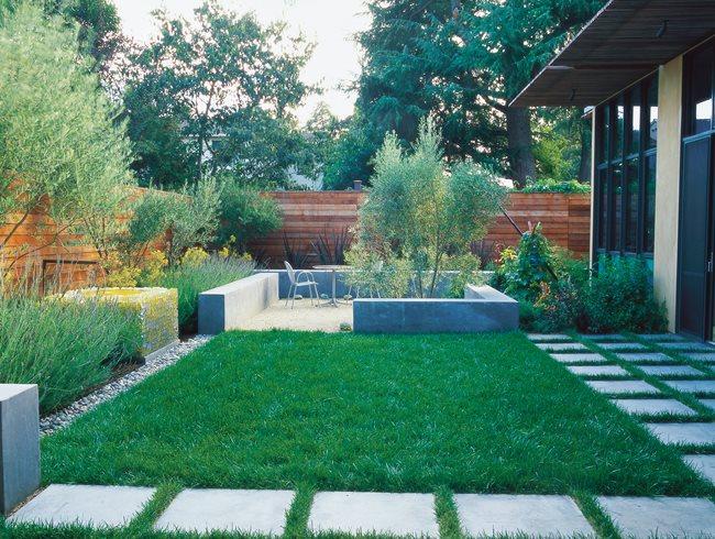small garden design ideas minimalist garden, small lawn small garden pictures bernard trianor +  associates NEYYVES