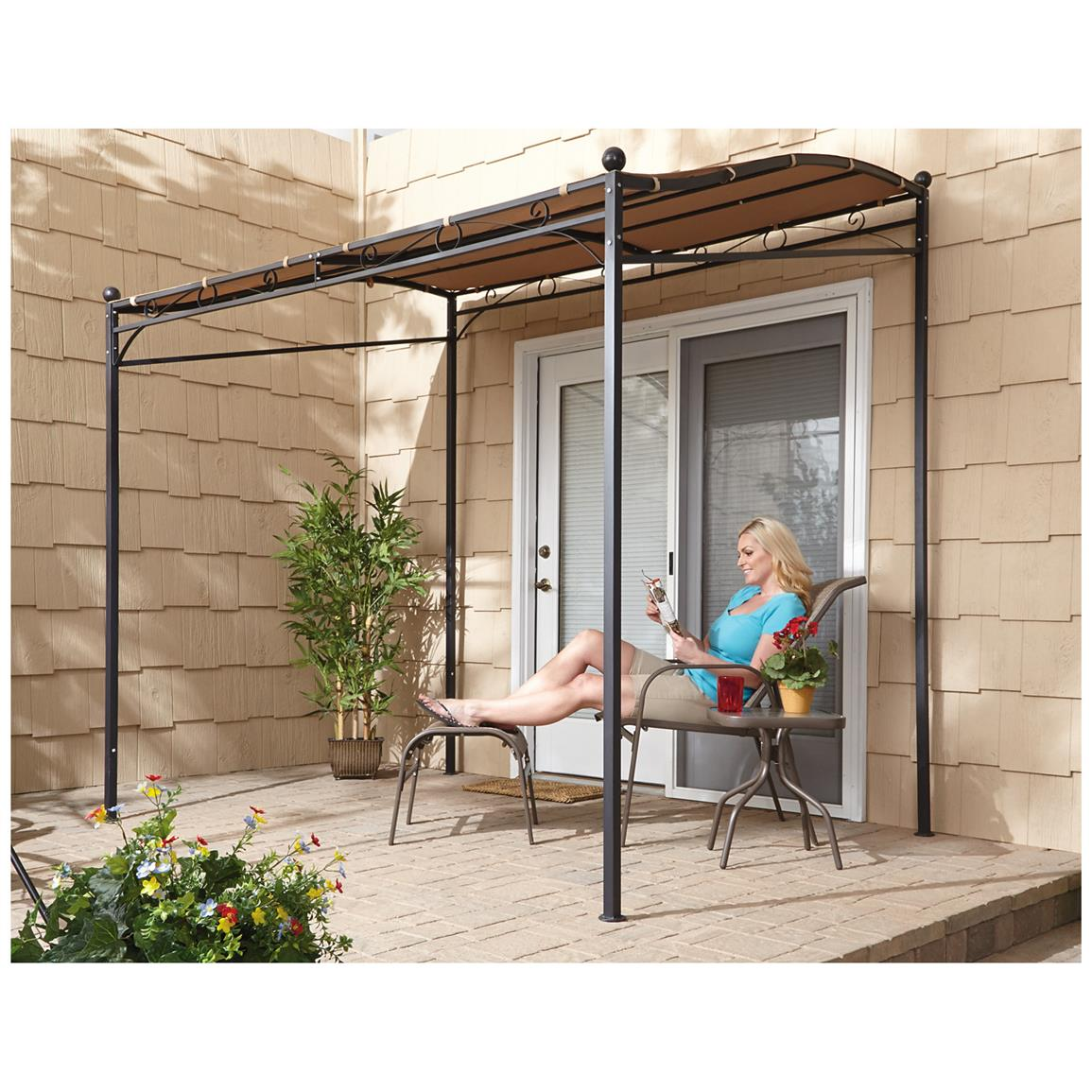 small gazebo sturdy free-standing support ROQCDHO