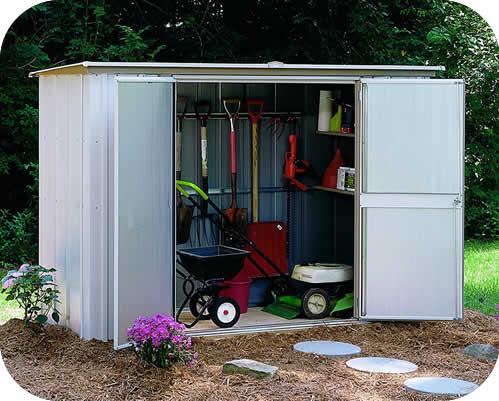 small shed garden shed 8x3 arrow storage shed OUHJDNK