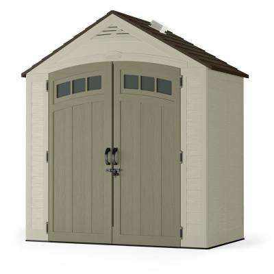 small shed vista 7 ft. 4 in. x 4 ft. 1 in. resin storage OMIVPPZ