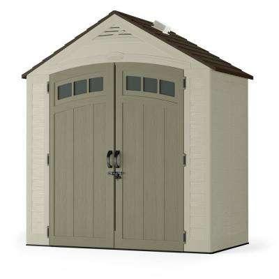 small sheds vista 7 ft. 4 in. x 4 ft. 1 in. resin storage JVGENOQ