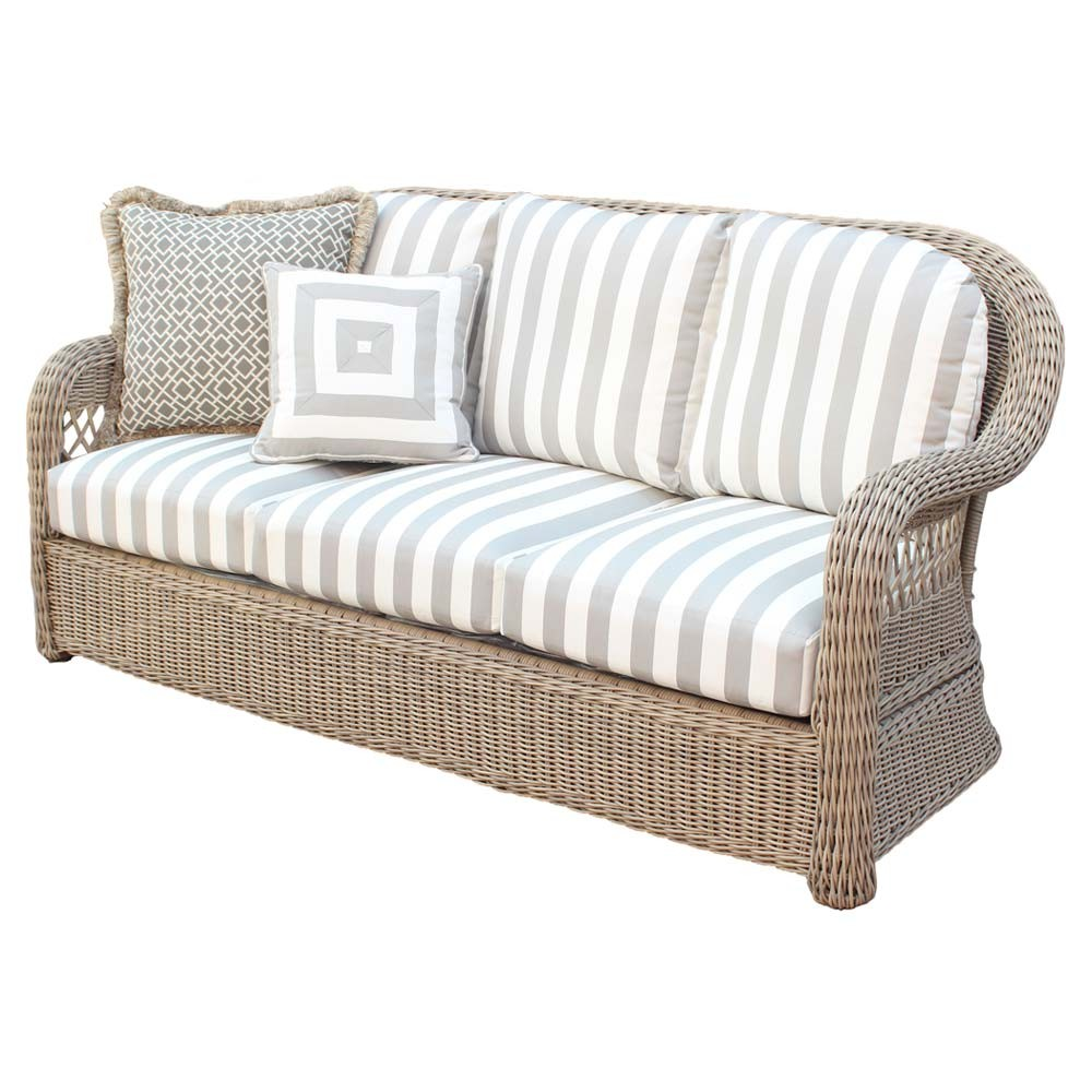 Get a wicker sofa for the Patio