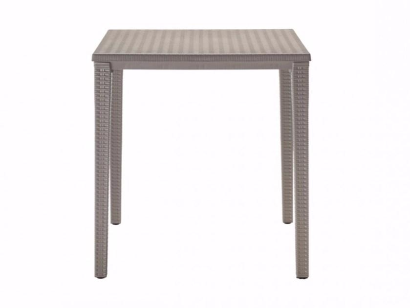 stackable square plastic garden table orazio   square table by scab design OGRGQAJ