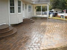 stamped concrete patio love this stamp of durham house OJAPNGI