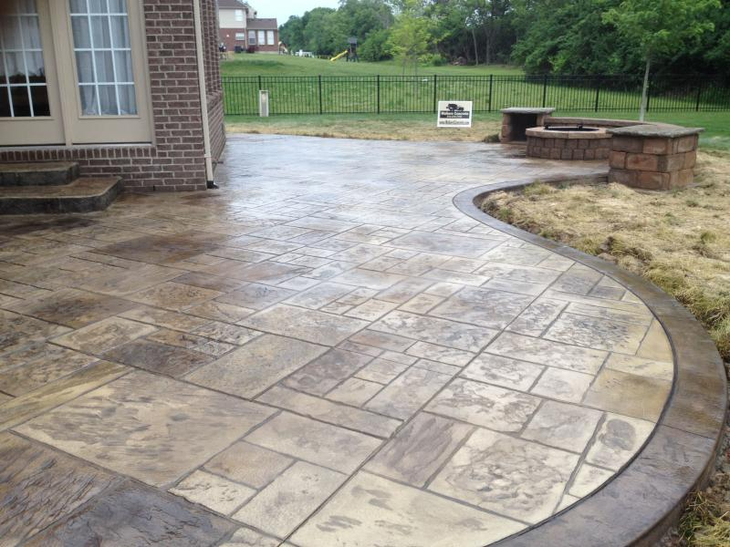 stamped concrete patio shapes WMBYQCB