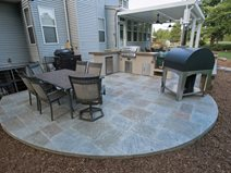 stamped concrete patio stone look concrete FHOWHNK