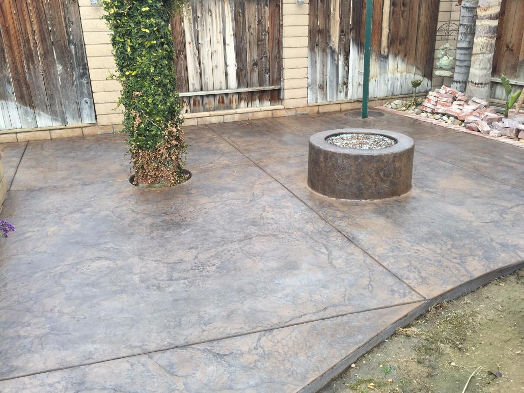 stamped concrete, retaining wall, custom concrete | bakersfield, ca OCMKHYY