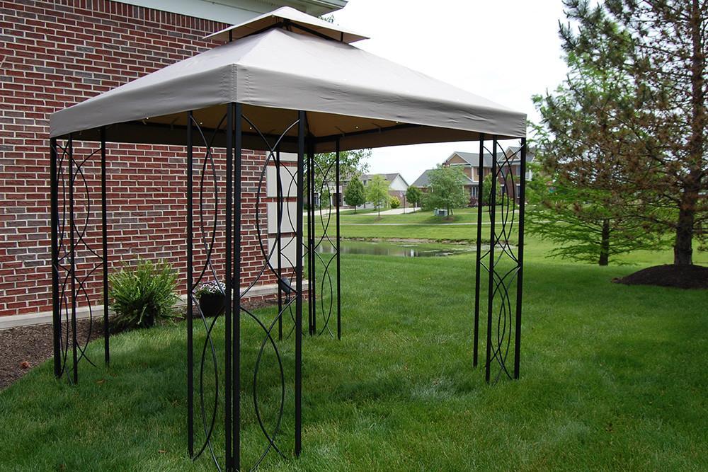 steel gazebo 8x8 ft loweu0027s steel frame gazebo with high-grade canopy 300d polyester - DJBKURB